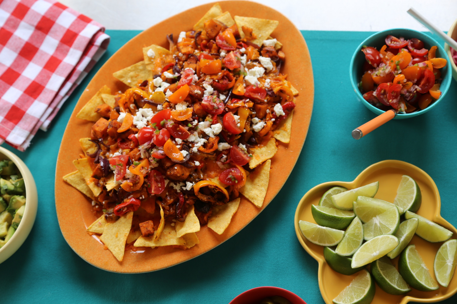 Vegetarian supreme nachos - nachos recipes vegetarian