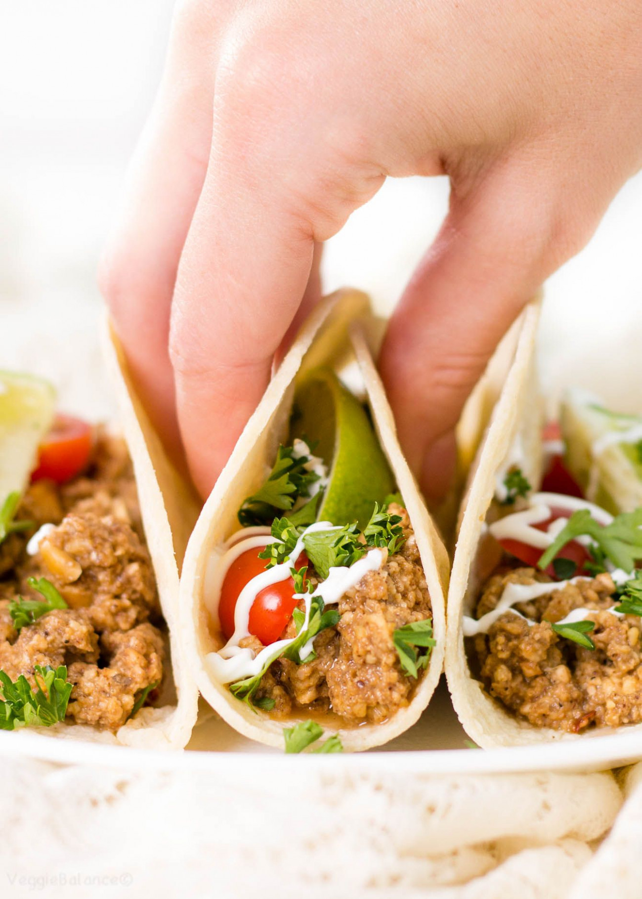 Vegetarian Taco Meat recipe imitates the food we love ..