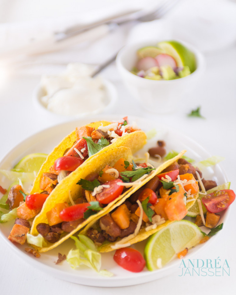 Vegetarian Tacos With Sweet Potato And Beans - Recipes Vegetarian Tacos