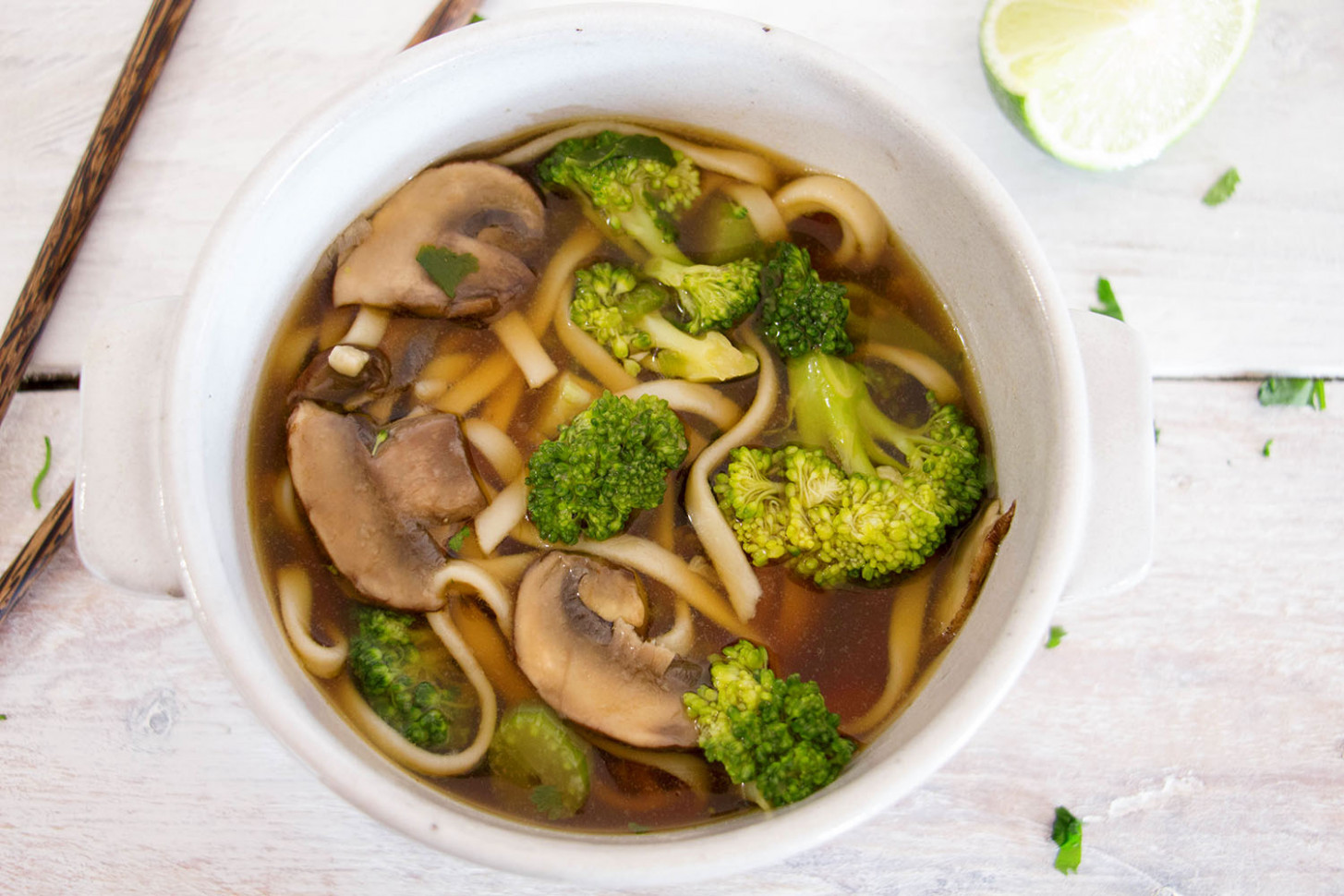 Vegetarian Udon Noodle Soup Recipe from Pescetarian