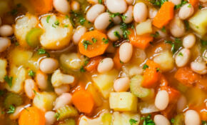 Vegetarian Vegetable Bean Soup And Parmesan Cheese Toasts ..