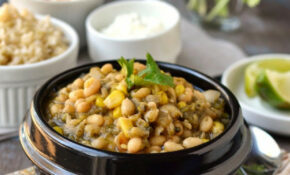 Vegetarian White Chili With Roasted Poblano Peppers Recipe ..