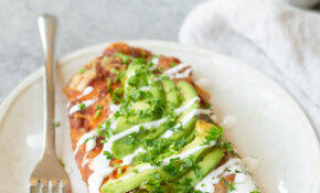 Vegetarian Zucchini Enchiladas – Delish Knowledge – Recipes Vegetarian Enchiladas