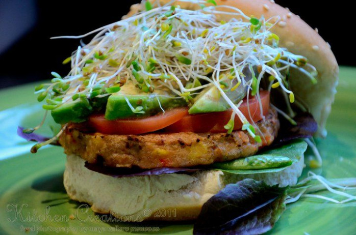 Veggie Burger | Edibles - Vegetarian Meals | Burger ..