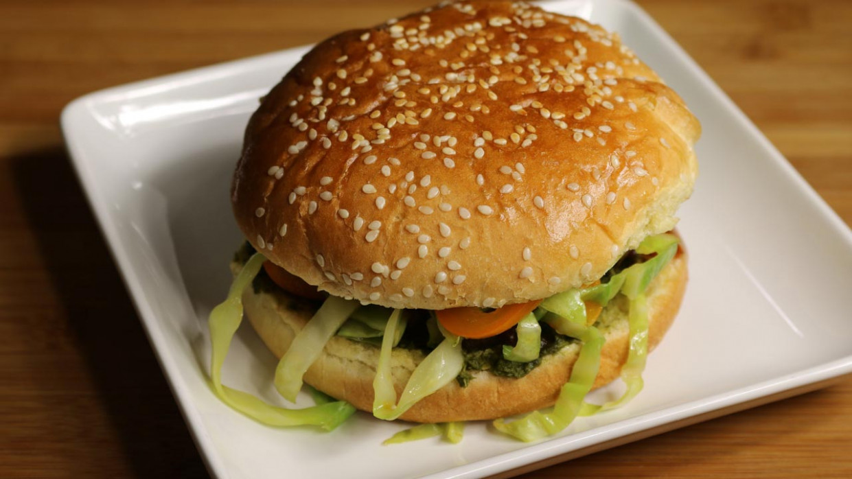 Veggie Burger (kala Chana Burger) - Manjula's Kitchen ..