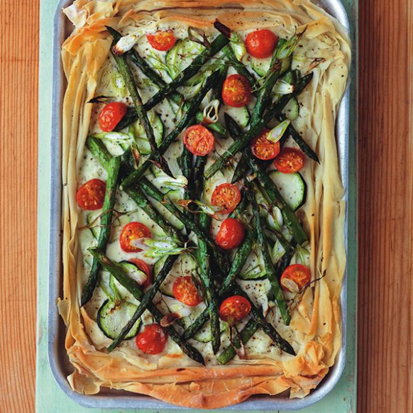 Veggie filo tart - recipes using filo pastry vegetarian