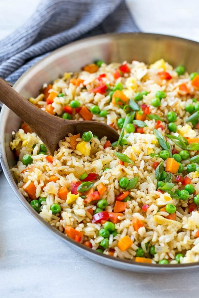 Veggie Fried Rice - Dinner at the Zoo - rice recipes dinner