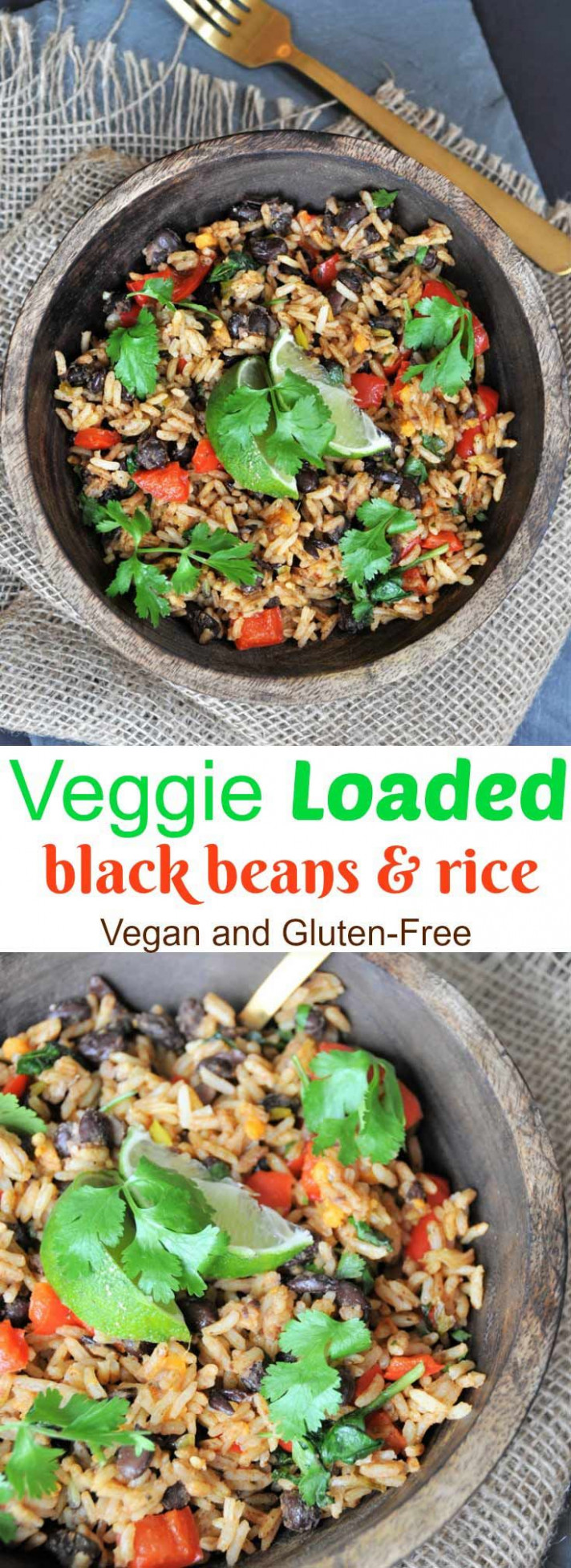Veggie loaded black beans and rice | Recipe | Food ..