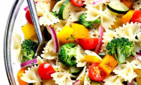 Veggie Lovers' Pasta Salad | Gimme Some Oven – Healthy Pasta Recipes Vegetarian