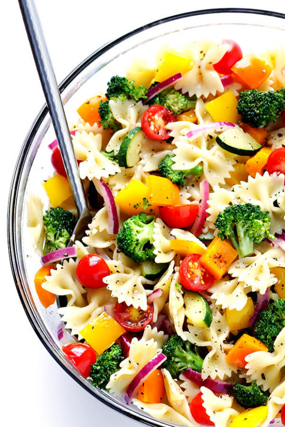 Veggie Lovers' Pasta Salad | Gimme Some Oven - healthy pasta recipes vegetarian