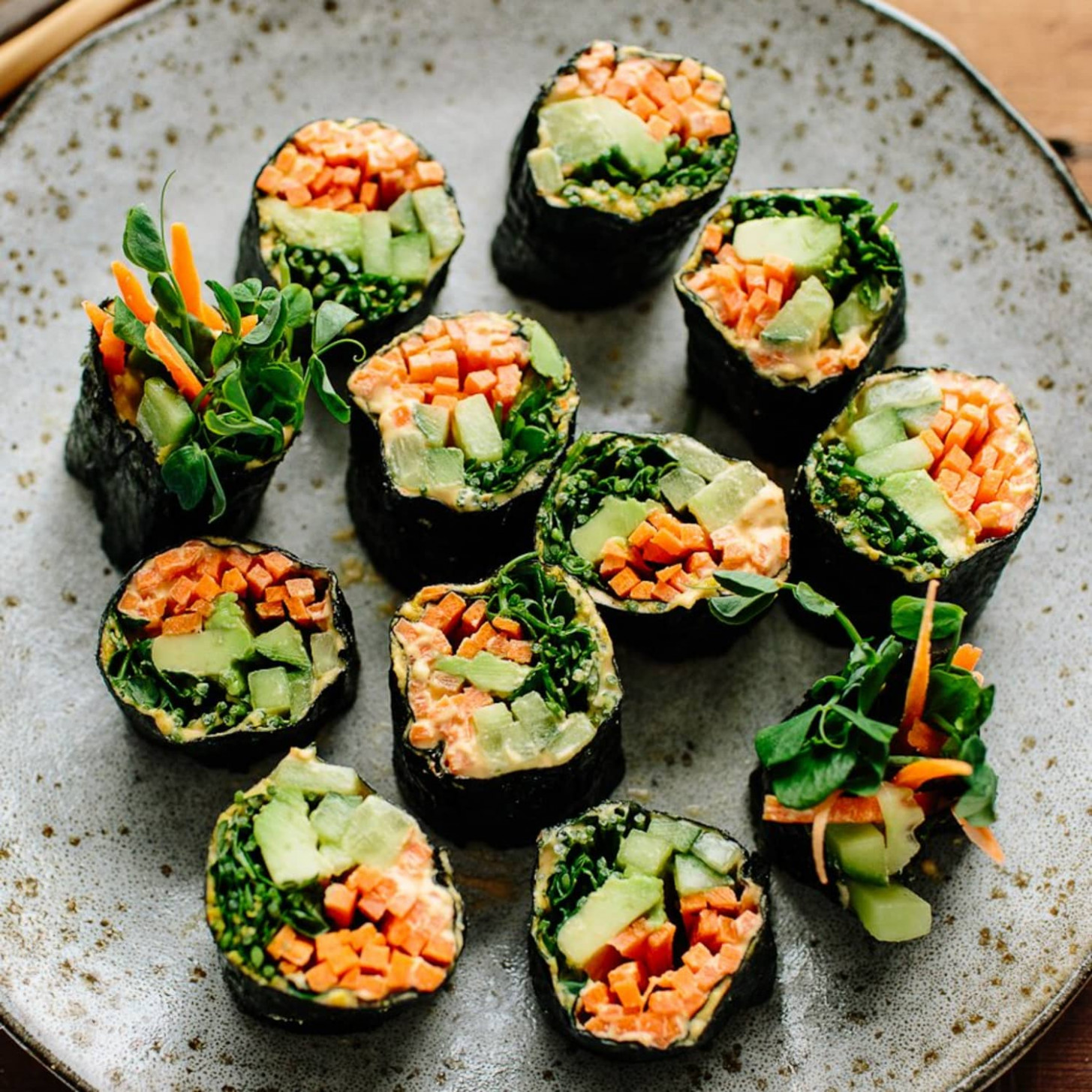 Veggie Nori Rolls - vegetarian wraps and rolls recipes