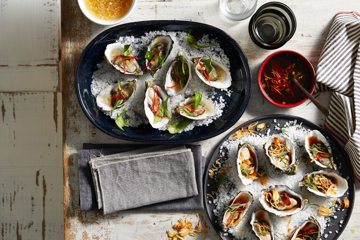 Vietnamese-inspired gin oysters | Oyster recipes | SBS Food
