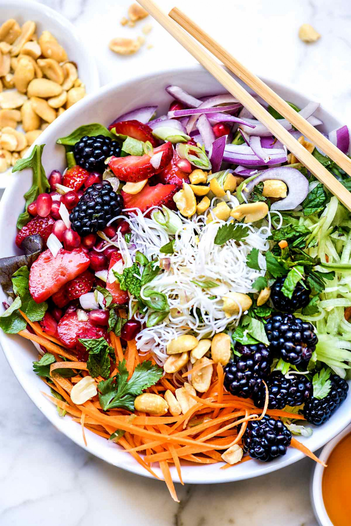 Vietnamese Rice Noodle Salad with Berries - healthy noodle recipes