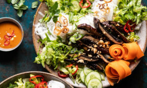 Vietnamese Rice Noodle Salad With Mushrooms And Spicy Peanut Vinaigrette – Vietnamese Recipes Vegetarian