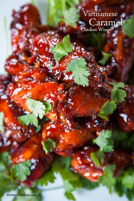 Vietnamese Style Spicy Caramel Chicken Wings Recipe — Dishmaps - Chicken Recipes Vietnamese Style