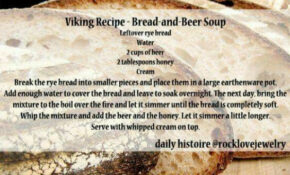 Viking Recipe – Bread And Beer Soup #VIKINGFOOD ..