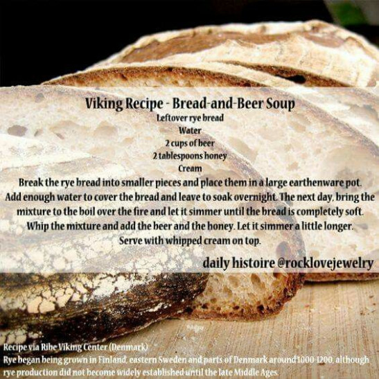 Viking Recipe - Bread and Beer Soup #VIKINGFOOD ..
