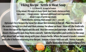 Viking Recipe – Nettle And Meat Soup | Viking Food ..