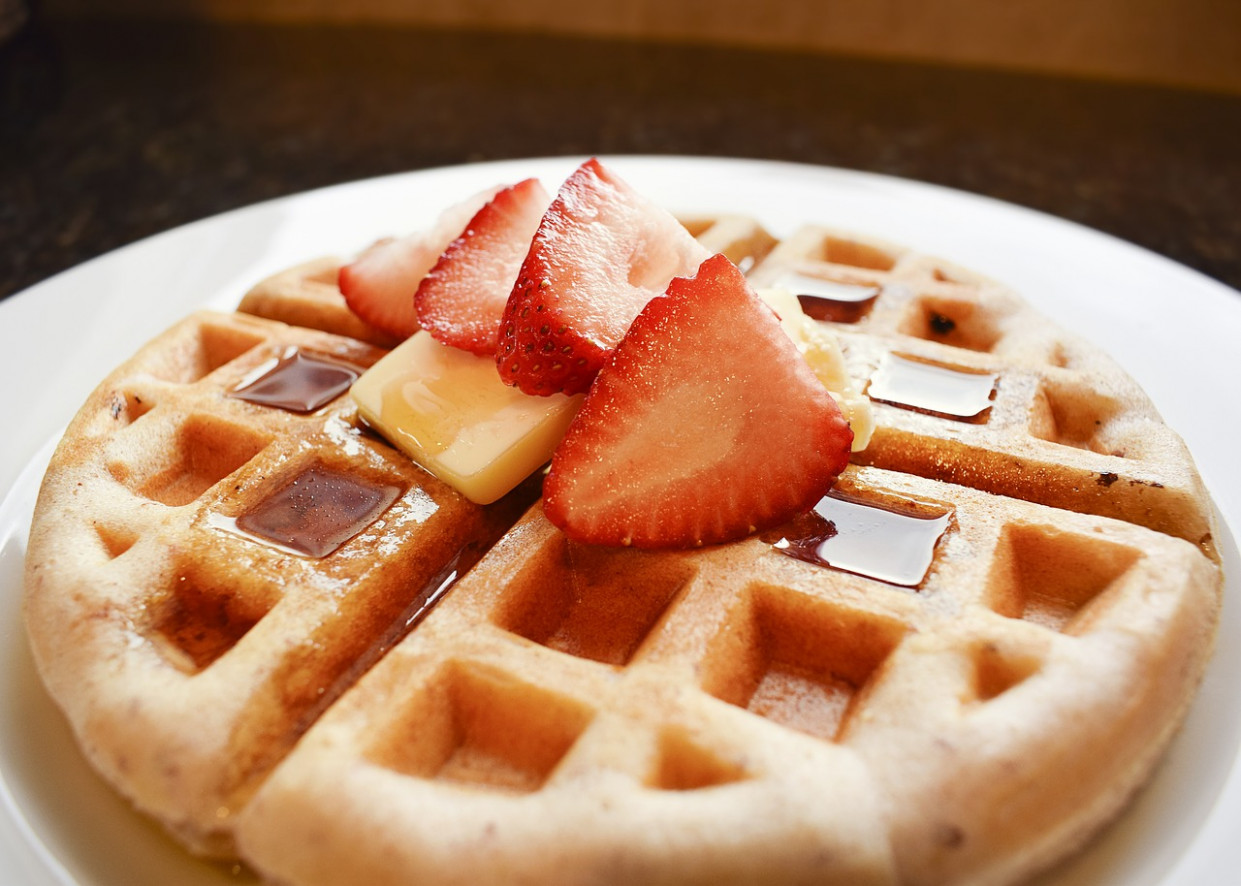 Waffle, Waffles, Strawberry - food recipes gluten free