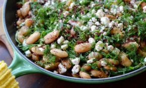 Warm Butter Beans With Arugula — Three Many Cooks – Lima Bean Recipes Vegetarian