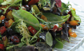 Warm Pepper And Craisin Salad – Jamie Geller – Red And Yellow Bell Pepper Recipes Vegetarian