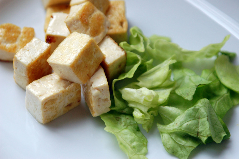 Warm Tofu Cubes - baby finger food recipes