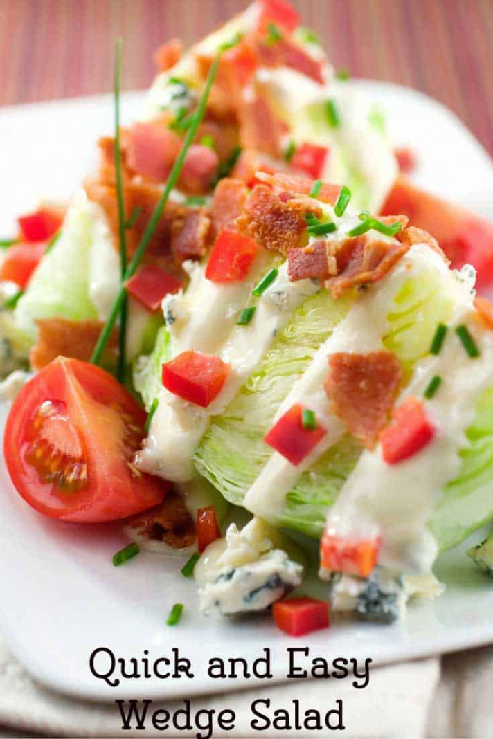 Wedge Salad - salad recipes dinner
