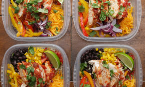 Weekday Meal Prep Chicken Burrito Bowls Recipe By Tasty – Chicken Recipes Meal Prep
