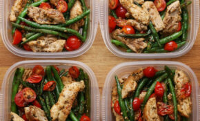 Weekday Meal Prep Pesto Chicken & Veggies – Healthy Recipes To Meal Prep
