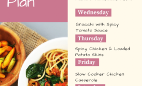Weekly Family Meal Plan Filled With Easy To Make Homemade ..
