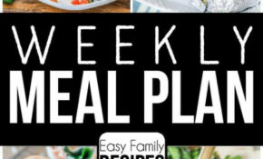 Weekly Meal Plan · Easy Family Recipes – Recipes Dinner Tonight