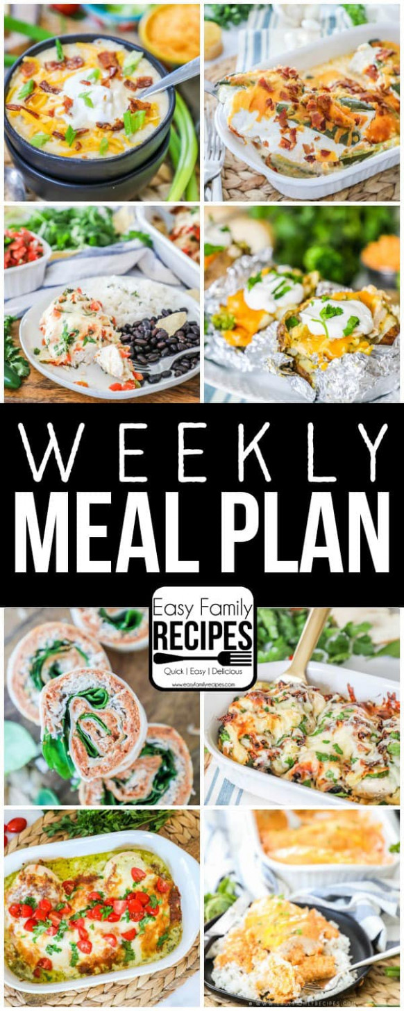 Weekly Meal Plan · Easy Family Recipes - recipes dinner tonight