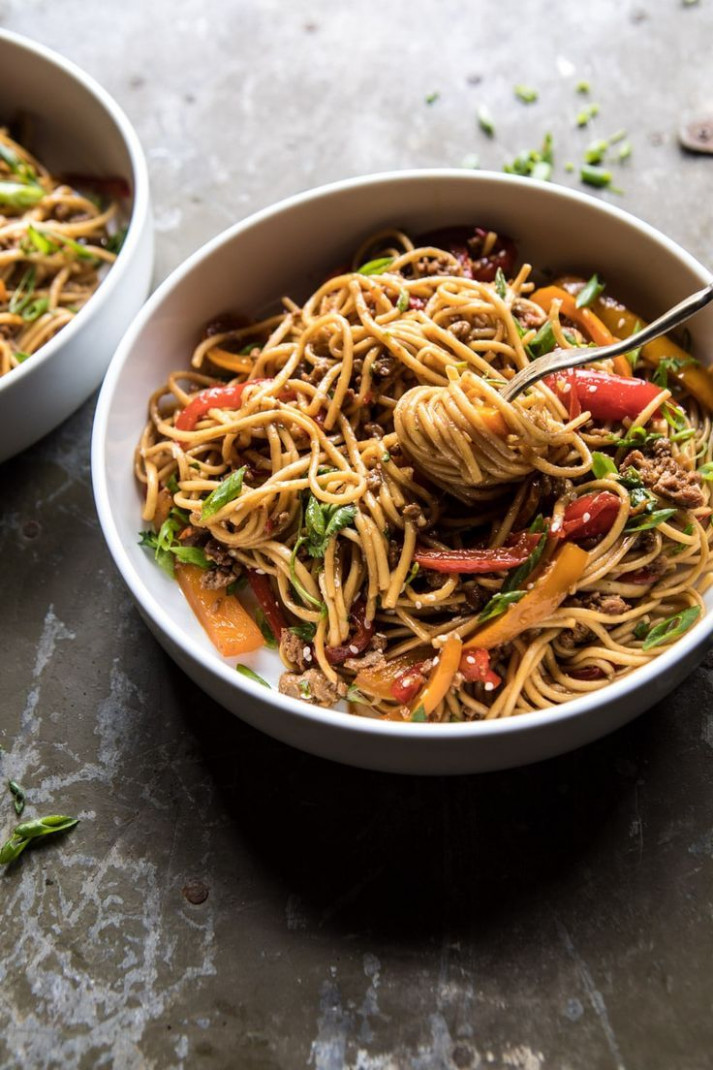 Weeknight 14 Minute Spicy Udon Noodles - recipes vegetarian noodles
