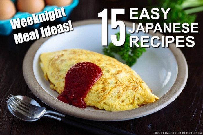 Weeknight Meal Ideas: 15 Easy Japanese Recipes • Just One ..
