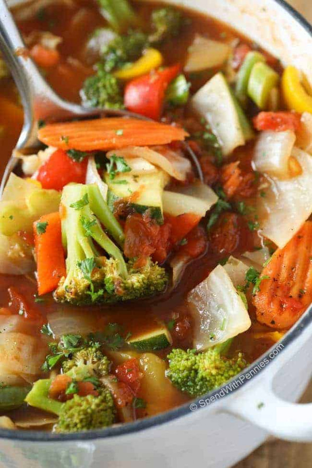 Weight Loss Vegetable Soup W/ Amazing Flavor - Spend ..
