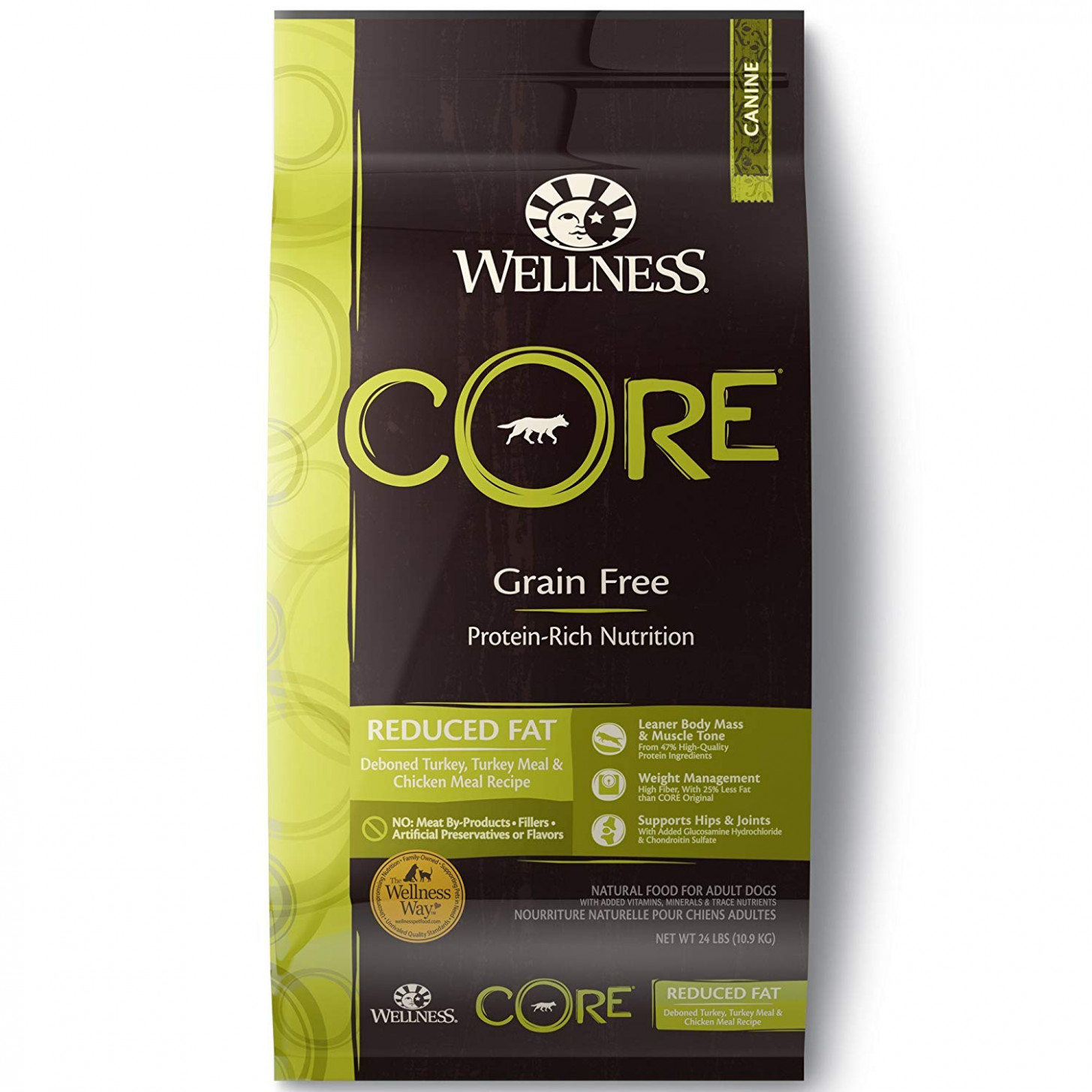 Wellness CORE Reduced Fat Dry Dog Food, 15-Pound Bag high ..