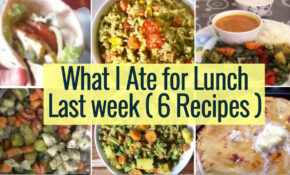 What I Ate For Lunch Last Week | 14 Healthy Indian Vegetarian ..