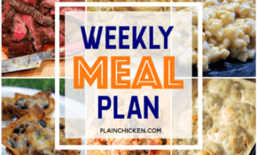 What's For Dinner? Weekly Meal Plan With A Quick And Easy ..