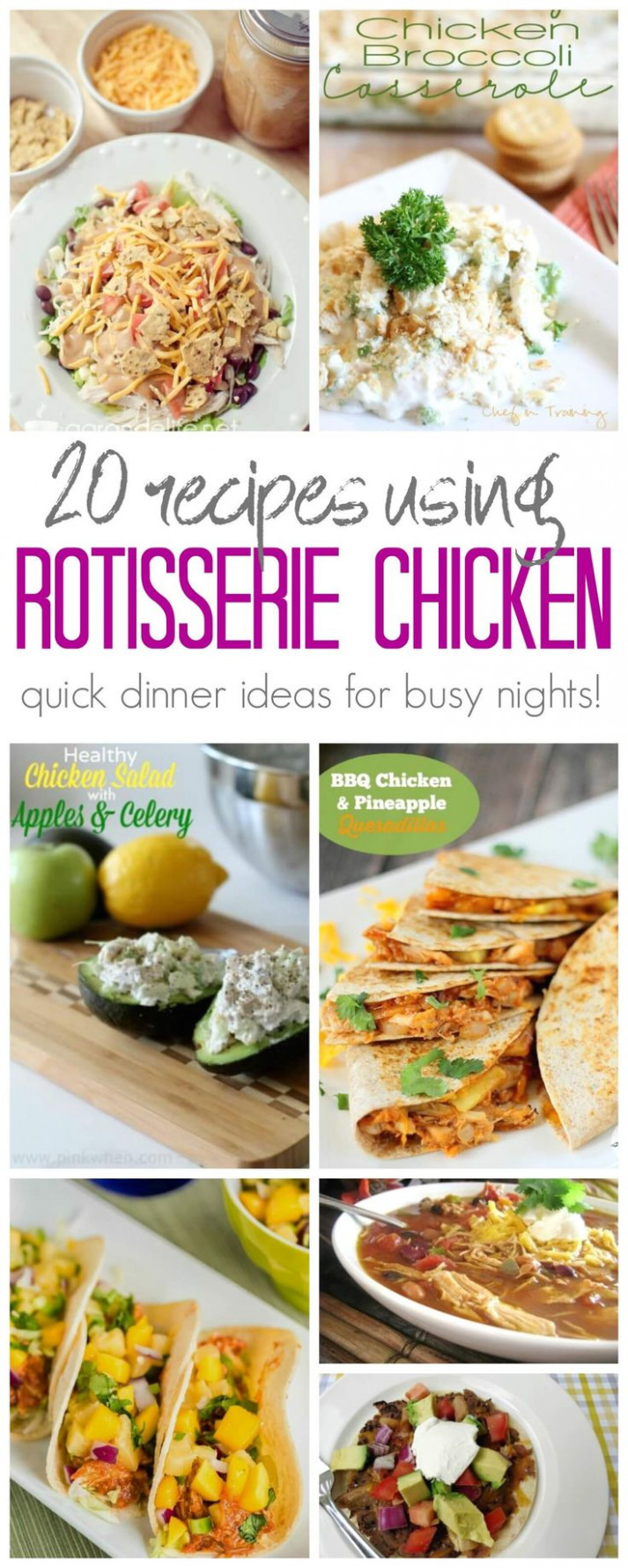 what to do with leftover rotisserie chicken recipes - healthy recipes rotisserie chicken