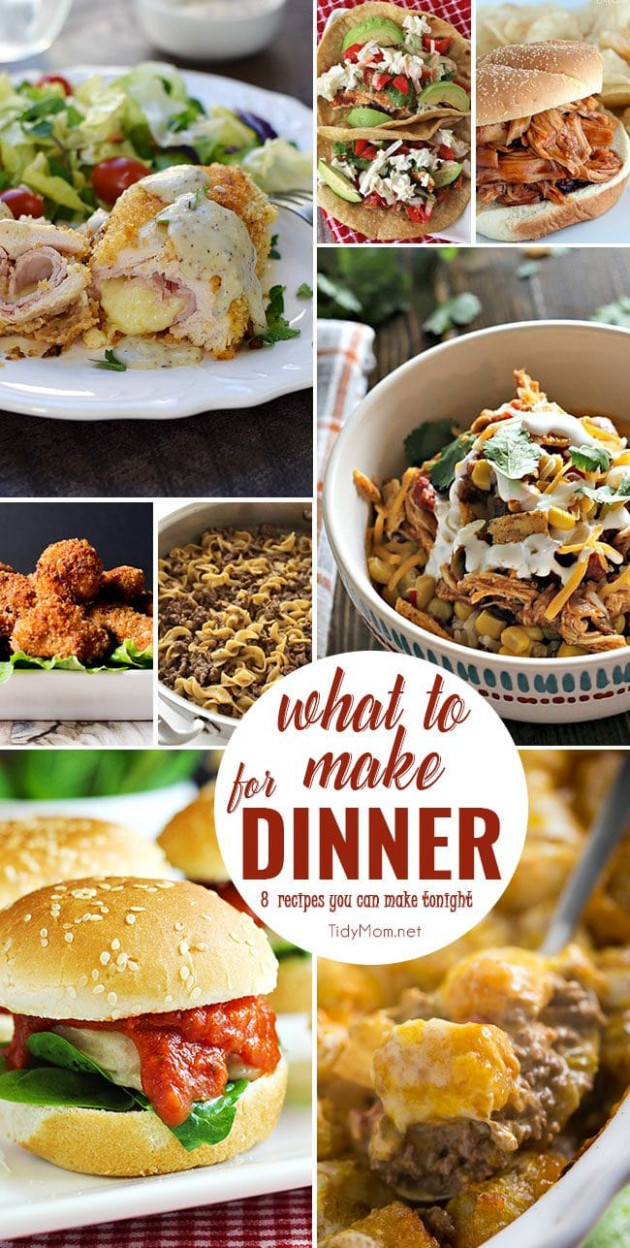 What to Make for Dinner | Easy Dinner Recipes | TidyMom - recipes easy to make for dinner