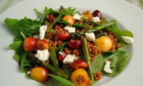 Wheatberry Salad With Cherries And Roasted Asparagus – Vegetable Recipes Vegetarian