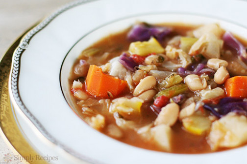 White Bean and Vegetable Soup Recipe | SimplyRecipes