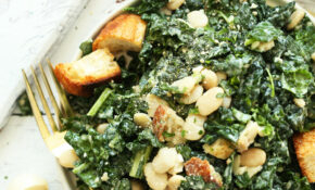 White Bean Kale Salad With Tahini Dressing – Healthy Kale Recipes