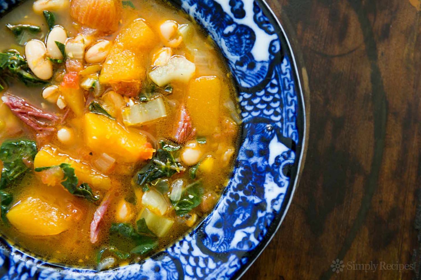White Bean Soup with Ham, Pumpkin, and Chard Recipe ..