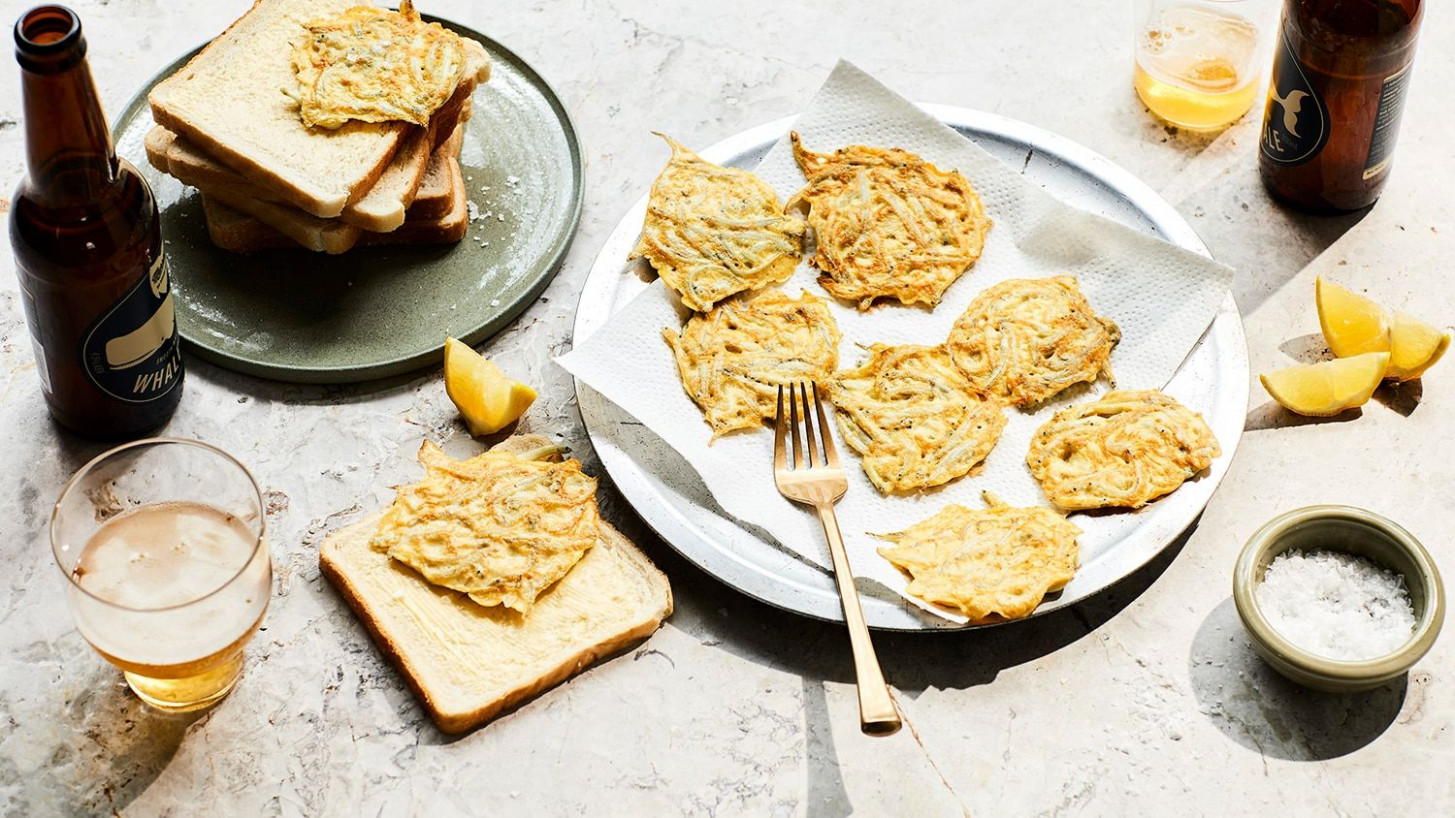 Whitebait fritters | antipasto lunch | Seafood appetizers ..