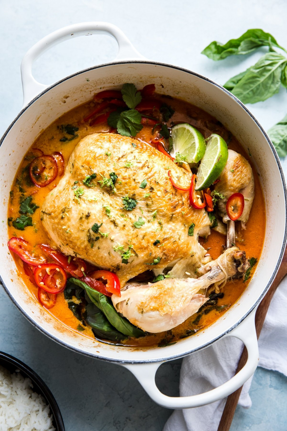 Whole Coconut Curry Chicken - chicken recipes with coconut milk