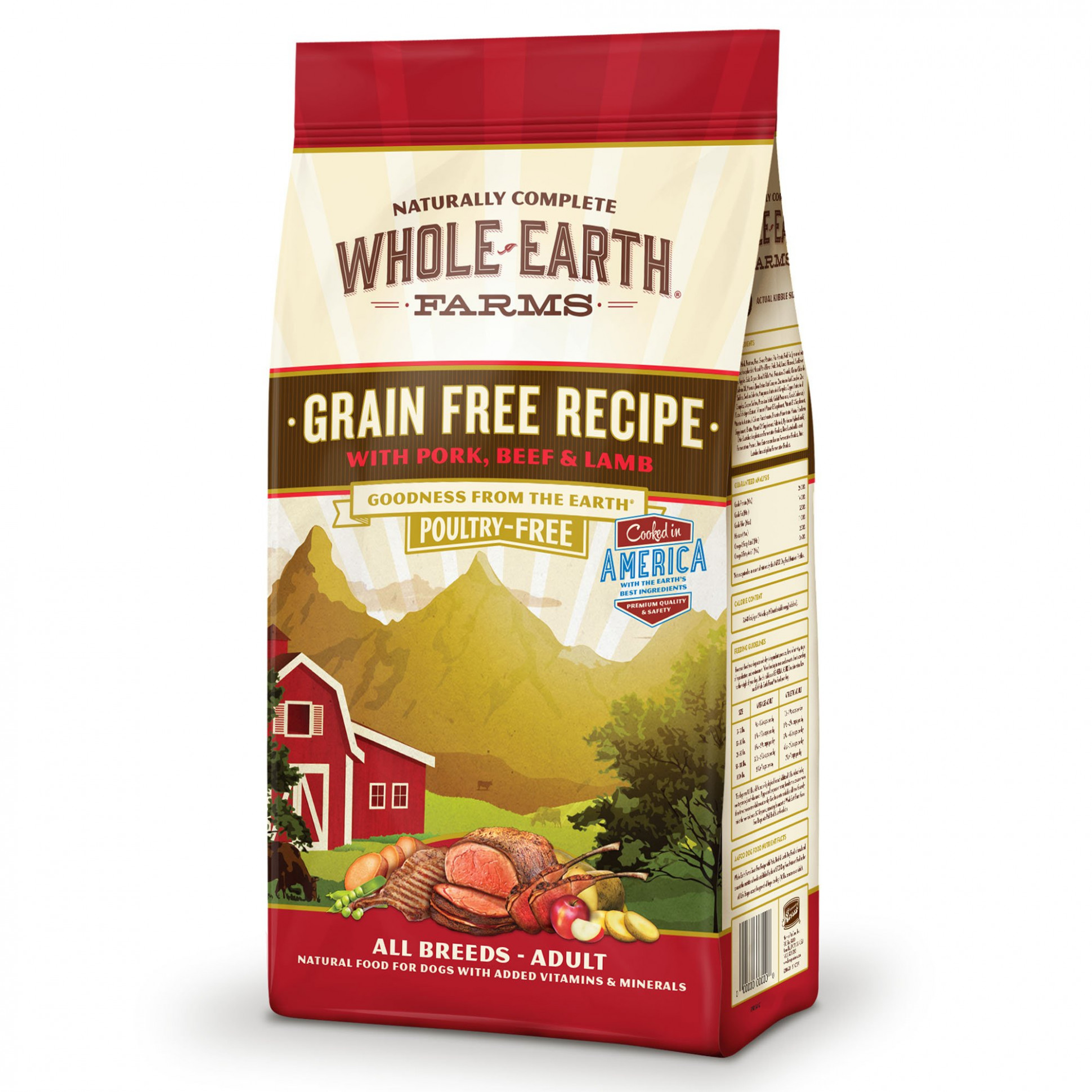 Whole Earth Farms Grain Free Recipe with Pork, Beef & Lamb ..