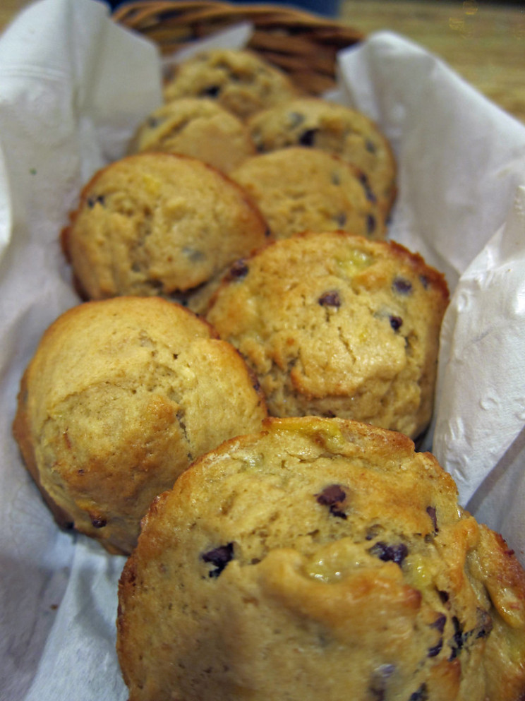 Whole Wheat Banana Chocolate Chip Muffins - recipes banana muffins healthy