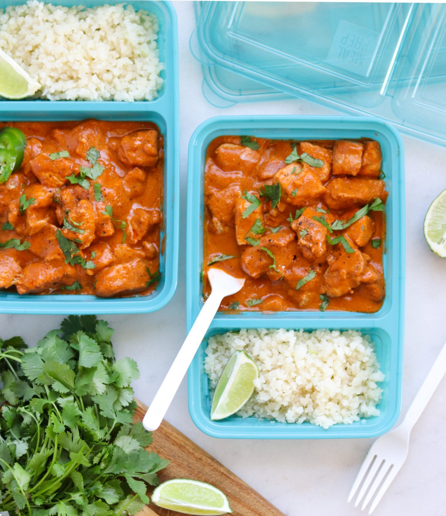 Whole12 Butter Chicken Meal Prep - meal prep recipes chicken