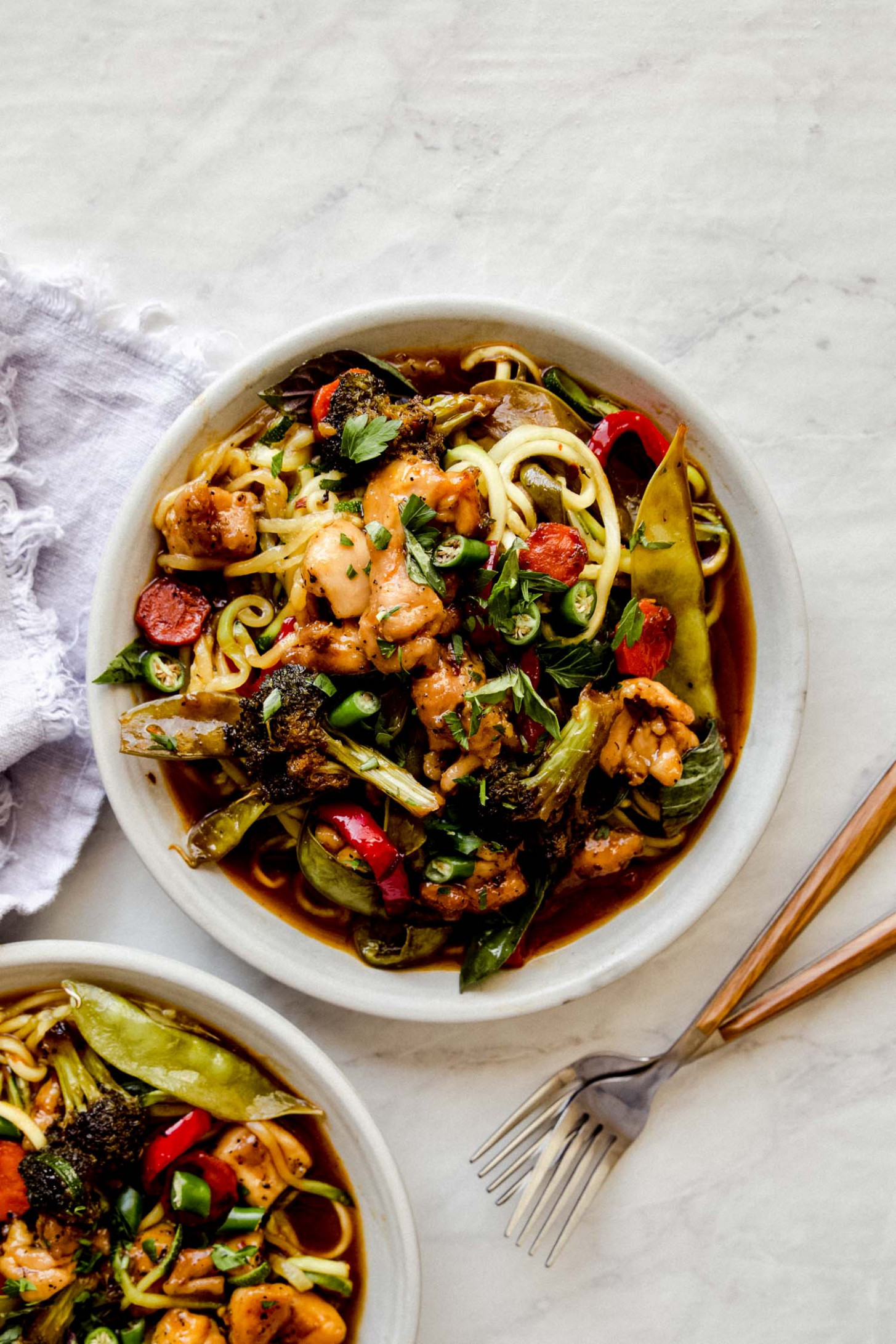 Whole12 Drunken Noodles - chicken zucchini recipes low carb